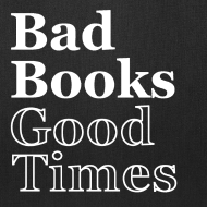 Design ~ Bad Books, Good Times Logo - Tote Bag (Jet Black)