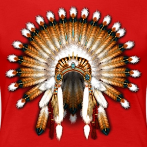 Native American War Bonnet 01 - Women's Premium T-Shirt