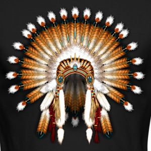 Native American War Bonnet 01 - Men's Long Sleeve T-Shirt by Next Level