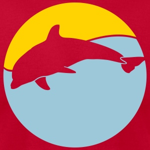 Wildlife: Dolphin T-Shirts - Men's T-Shirt by American Apparel
