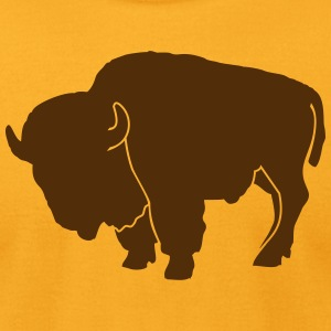 wildlife: the bison T-Shirts - Men's T-Shirt by American Apparel