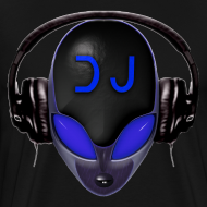 Design ~ Alien DJ - Blue - Hard Shell Bug - T-shirt