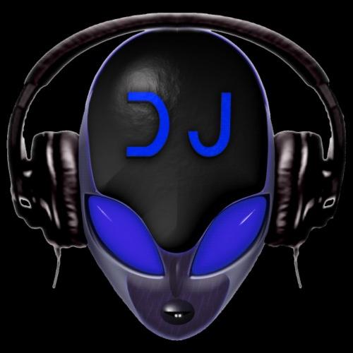 Alien Futuristic DJ with Headphones - Blue Style