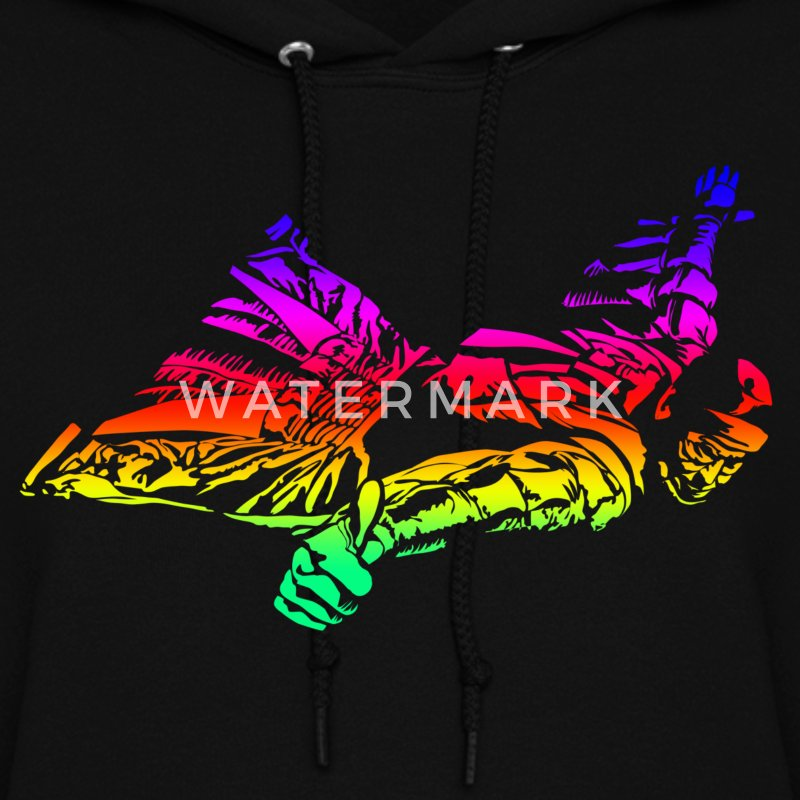 Wingsuit in rainbow gradient Hoodies - Women's Hoodie