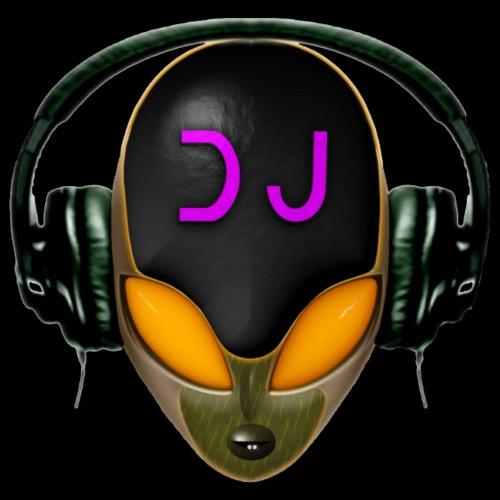 Alien Futuristic DJ with Headphones - Orange Style
