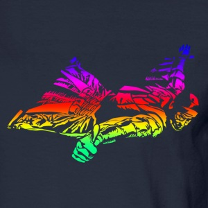 Wingsuit in rainbow gradient Long Sleeve Shirts - Men's Long Sleeve T-Shirt