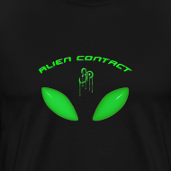 Design ~ Alien Contact Green Eyes - T Shirt