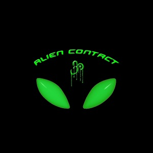 Alien Contact Above Alien Eyes