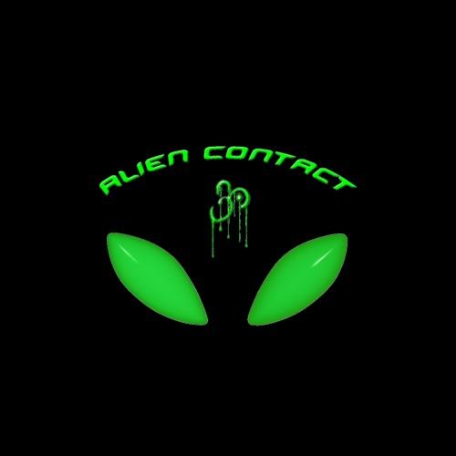 Alien Contact Above Alien Eyes
