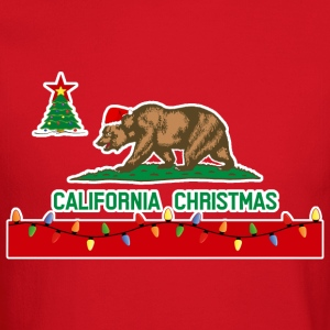 California Christmas Men's Sweatshirt (red) - Crewneck Sweatshirt