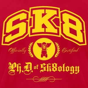 PHD of Skateology College - Men's T-Shirt by American Apparel