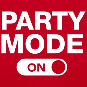 Party Mode (On) Women's T-Shirts - Women's V-Neck T-Shirt