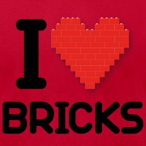 I love Bricks (dd print) T-Shirts - Men's T-Shirt by American Apparel