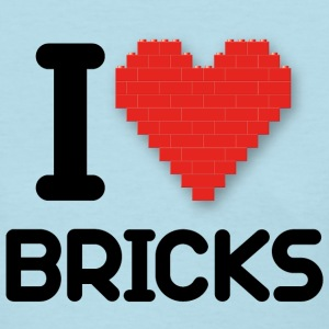 I love Bricks (dd print) Women's T-Shirts - Women's T-Shirt