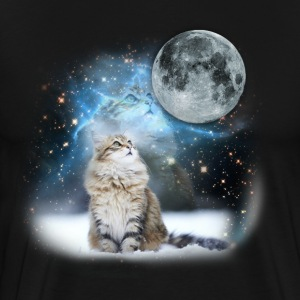 Cat In Space LOL - Men's Premium T-Shirt