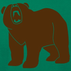 Wildlife: Grizzly bear T-Shirts - Men's T-Shirt by American Apparel