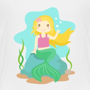 cute little mermaid with blond hair from the ocean Kids' Shirts - Kids' Premium T-Shirt