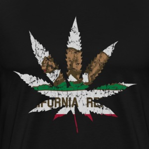 California Republic Flag Pot Leaf T-Shirts - Men's Premium T-Shirt