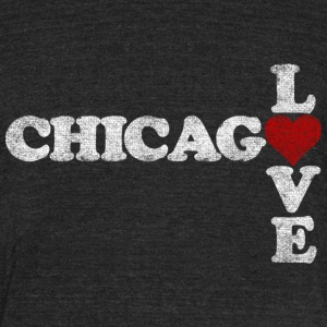 Chicago Love Heart T-Shirts - Unisex Tri-Blend T-Shirt by American Apparel