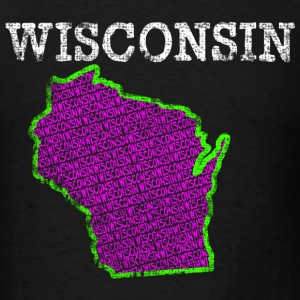A Wisconsin State T-Shirts - Men's T-Shirt