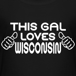 This Gal Loves Wisconsin Kids' Shirts - Kids' Premium T-Shirt