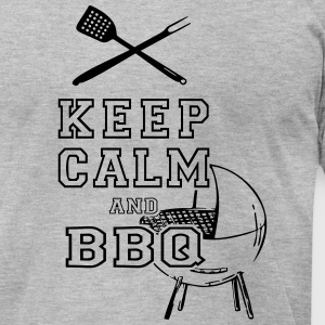 KEEP CALM AND BBQ BARBECUE as Vector T-Shirts - Men's T-Shirt by American Apparel