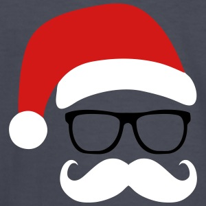 Funny Santa Claus with nerd glasses and mustache Kids' Shirts - Kids' Long Sleeve T-Shirt