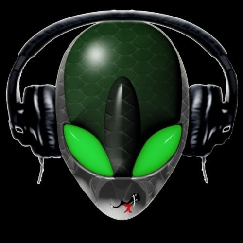 Reptoid Green Alien DJ Music Lover