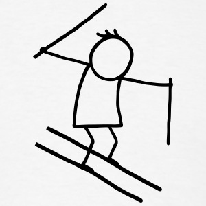 Skier - stick figure T-Shirts - Men's T-Shirt