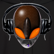 Design ~ Reptile Orange Alien DJ Music Lover - Friendly ET