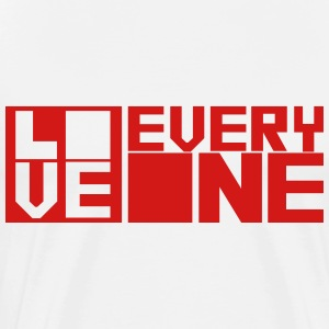 LOVE EVERYONE (red letters) T-Shirts - Men's Premium T-Shirt