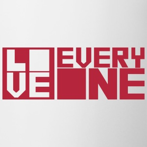 LOVE EVERYONE (red letters) Bottles & Mugs - Coffee/Tea Mug