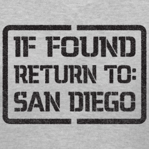 If Found Return to San Diego Women's T-Shirts - Women's V-Neck T-Shirt
