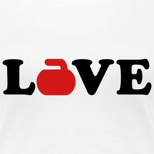 Curling love Women's T-Shirts - Women's Premium T-Shirt