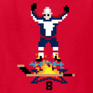 Design ~ 8-Bit Hot Stick Kid's T-Shirt