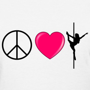Peace Love Pole Women's T-Shirt - Women's T-Shirt