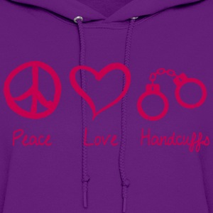 Peace Love Handcuffs Hoodies - Women's Hoodie