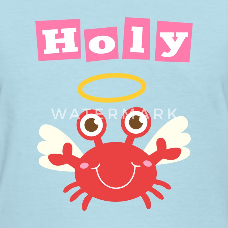 cute and funny holy crab, crab angel Women's T-Shirts - Women's T-Shirt