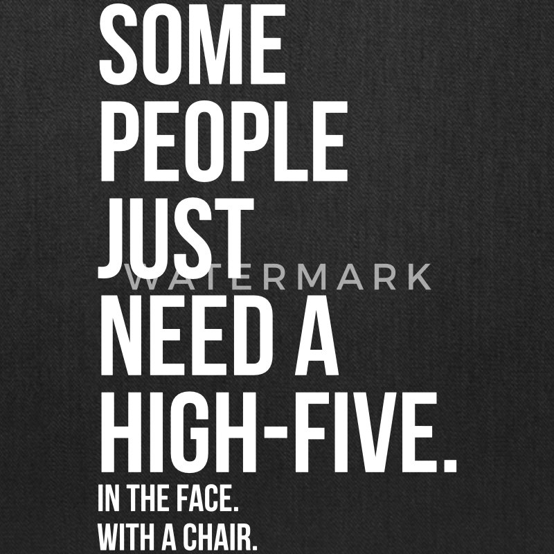 some people need a high five 5 in face with chair Bags & backpacks - Tote Bag