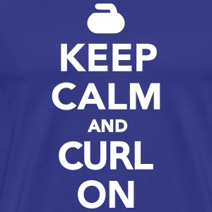Keep calm and curl on T-Shirts - Men's Premium T-Shirt