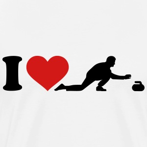 I love Curling T-Shirts - Men's Premium T-Shirt