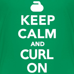 Keep calm and curl on Kids' Shirts - Kids' Premium T-Shirt