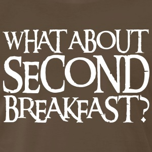 WHAT ABOUT SECOND BREAKFAST? T-Shirts - Men's Premium T-Shirt