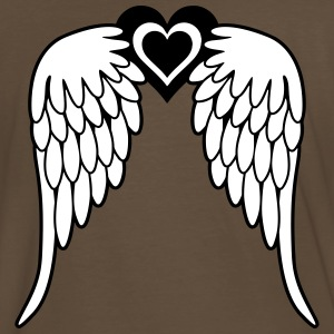 Angel wings - heart T-Shirts - Men's Premium T-Shirt
