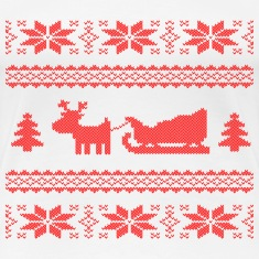 reindeer with sleigh Women's T-Shirts