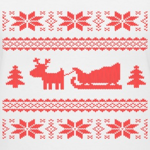reindeer with sleigh Women's T-Shirts - Women's V-Neck T-Shirt