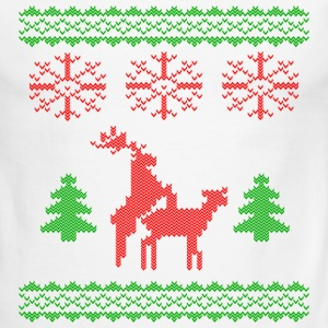 christmas reindeer make love knit T-Shirts - Men's Ringer T-Shirt
