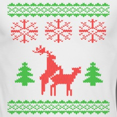 christmas reindeer make love knit Long Sleeve Shirts