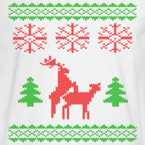 christmas reindeer make love knit Long Sleeve Shirts - Men's Long Sleeve T-Shirt