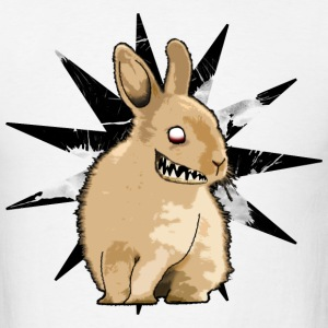 Monster bunny star [front] Big bunny [back] - Men's T-Shirt